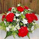 Red carnation Small table arrangement
