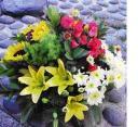 Sunflower / Rose / Lily Pompom Table Arrangement