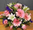 WhiteLily w Pink Gerbera Roses
