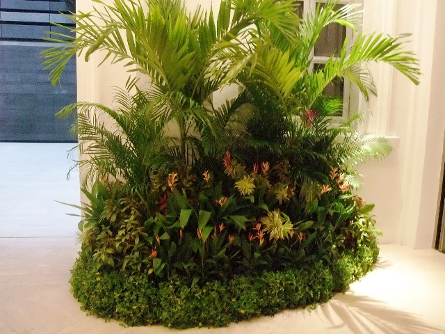 Event Display - Tropical Theme Palms Grouping