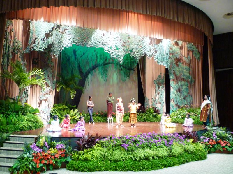 Event Display Tropical Theme Stage Design